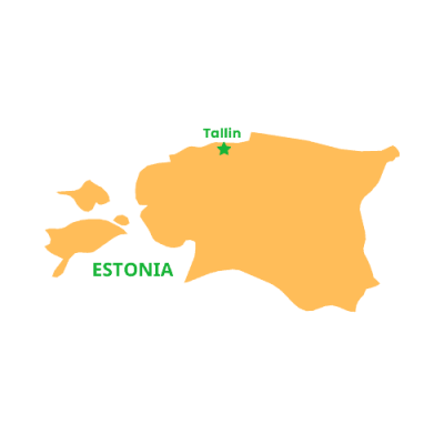 Mappa Estonia Tallin