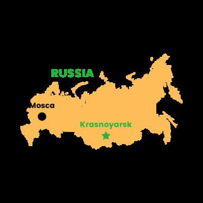 Mappa Krasnojarsk, Russia