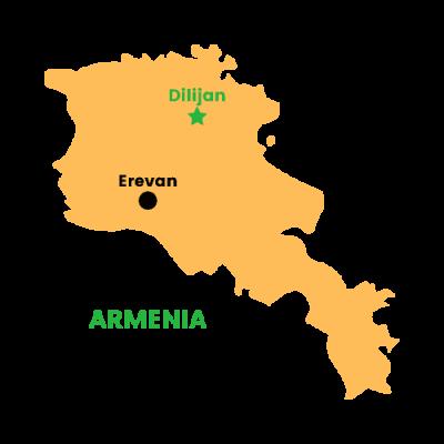 Mappa Dilijan, Armenia